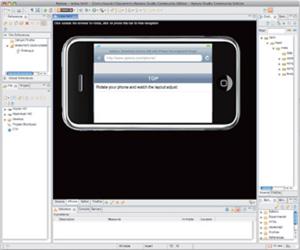 図4 iPhone Development PluginをインストールしたAptana Studio